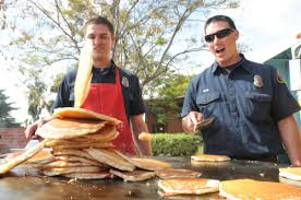 Monrovia Firefighters' Association Pancake Breakfast Book Distribution