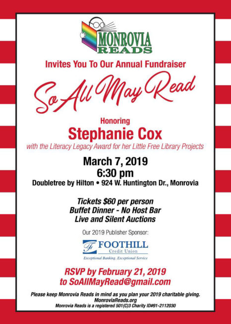 So All May Read Annual Fundraiser 2019
